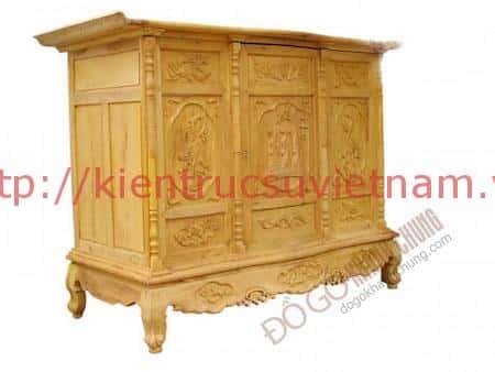 tu tho go mit 1 - 9 Mẫu tủ thờ gỗ mít đẹp với nhiều hoa văn tinh xảo