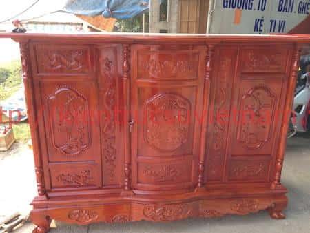 tu tho go mit 4 - 9 Mẫu tủ thờ gỗ mít đẹp với nhiều hoa văn tinh xảo