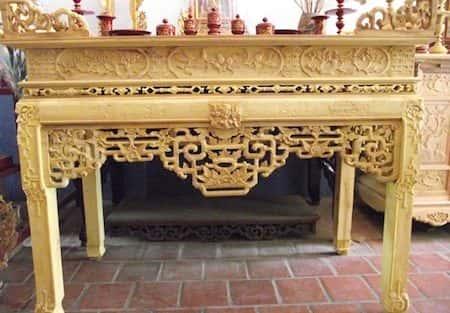 9 Mẫu tủ thờ gỗ mít đẹp với nhiều hoa văn tinh xảo