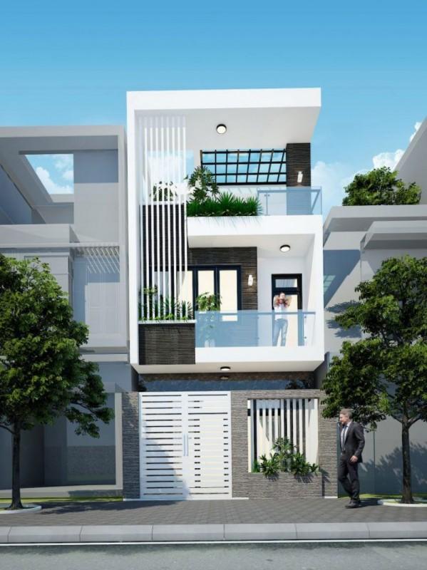 53 Mau thiet ke nha 30 m 2 3 tang 1 - Thiết kế nhà 3 tầng đẹp
