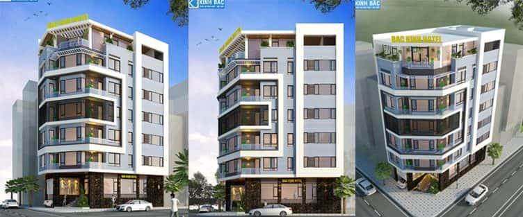 Thiết kế khách sạn 7 tầng đẹp TP Bắc Ninh