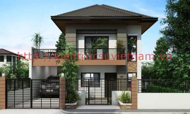 Desain Rumah Sederhana 2 Lantai Bagus 1 653x393 - Tư vấn thiết kế biệt thự mini 2 tầng