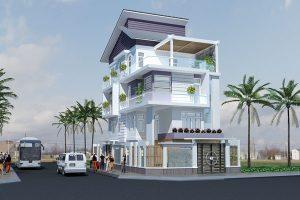Tư vấn thiết kế biệt thự hiện đại 4 tầng 1 300x200 - Tổng hợp các mẫu thiết kế nhà 8x12m đẹp