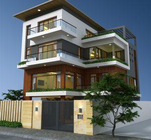 Tư vấn thiết kế biệt thự hiện đại 4 tầng 300x277 - Các phong cách kiến trúc đang được ưa chuộng hiện nay