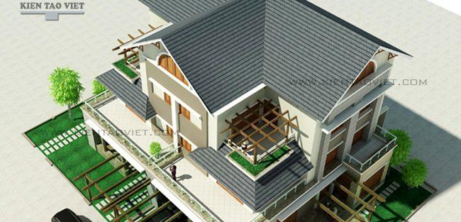 Tư vấn thiết kế biệt thự song lập 3 tầng