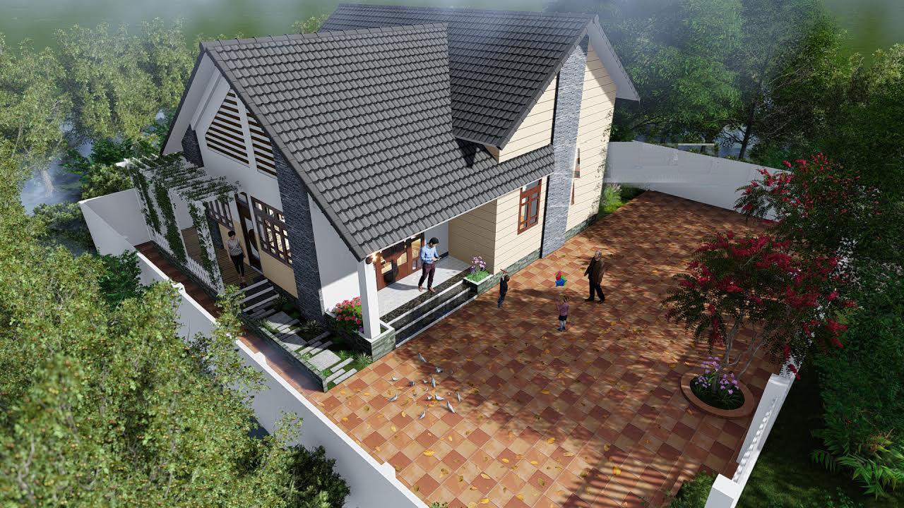 mẫu nhà mái thái cấp 4