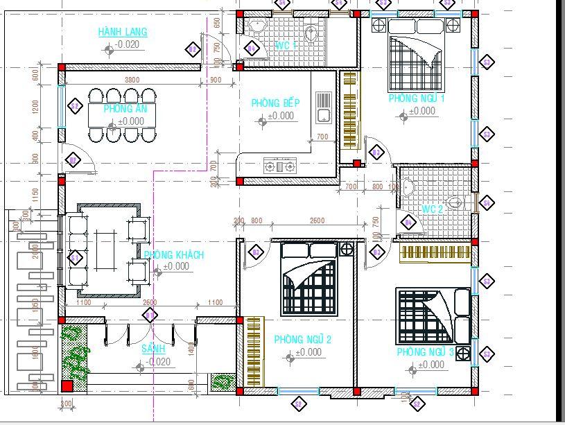 biệt thự 1 tầng 120m2 - Thiết kế biệt thự 1 tầng 120m2