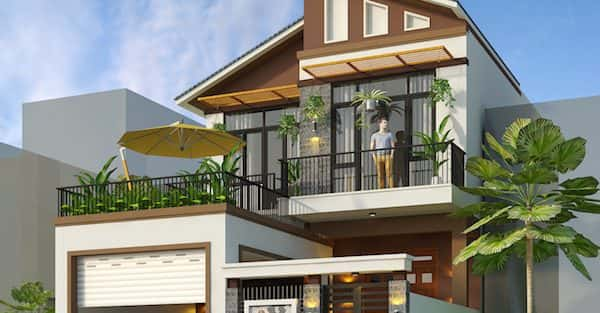 Thiết kế biệt thự 2 tầng đẹp ở Nghệ An
