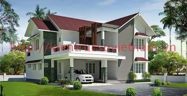 biet thu vuon 1.5 tang 5 - 57 Mẫu thiết kế nhà mái thái đẹp nếu làm nhà các bạn nên tham khảo, mát phù hợp khí hậu nhiệt đới