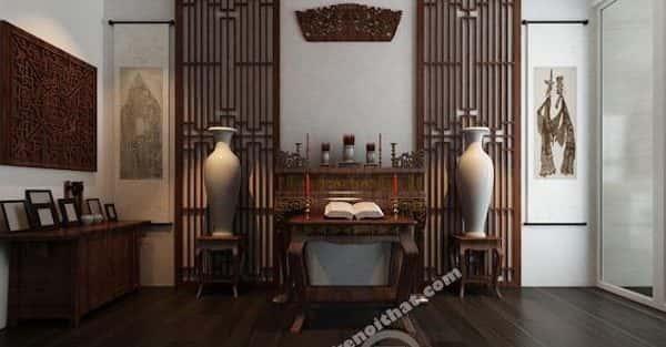 19 Mẫu bàn thờ, tủ thờ gỗ đẹp