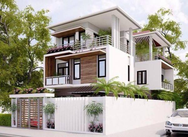 thiết kế biệt thự 3 tầng 100m 1 1 e1534236429539 - Biệt thự 2 tầng đẹp kinh phí 800 triệu