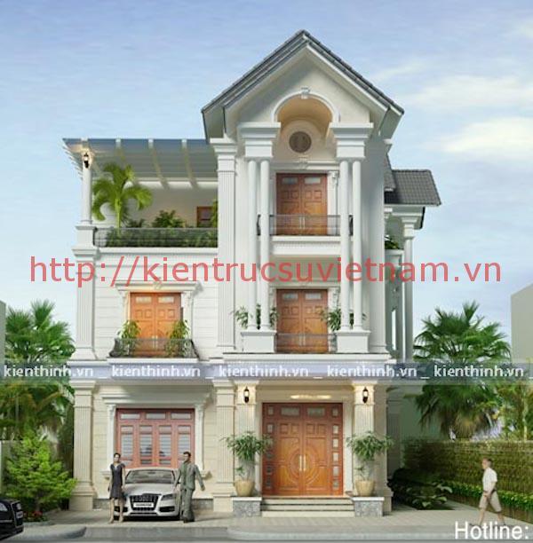 thiết kế nhà 3 tầng tân cổ điển - Thiết kế biệt thự 3 tầng đẹp
