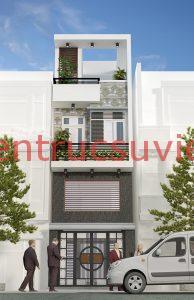 thiết kết nhà 3 tầng 900 triệu 1 194x300 - Mẫu thiết kế nhà phố 7x15m