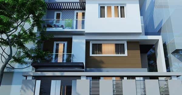 Tư vấn thiết kế biệt thự hiện đại mặt tiền 6m