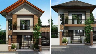 thiet ke nha 2 tang 10x10m 2 400x225 - Tư vấn thiết kế nhà nhà 2 tầng 7x12m đẹp tối ưu công năng phong thuỷ