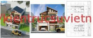 thiet ke nha biet thu 2 tang dep o nghe an 300x124 - Báo giá thiết kế: Nhà, biệt thự, nội thất