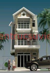 thiet ke nha lo pho 3 tang 204x300 - Mẫu thiết kế nhà phố 6x16m