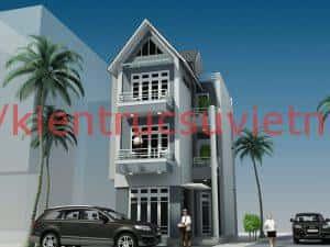 thiet ke nha pho 3 tang chu L 7x138m 300x225 - Mẫu thiết kế nhà phố 6x20m