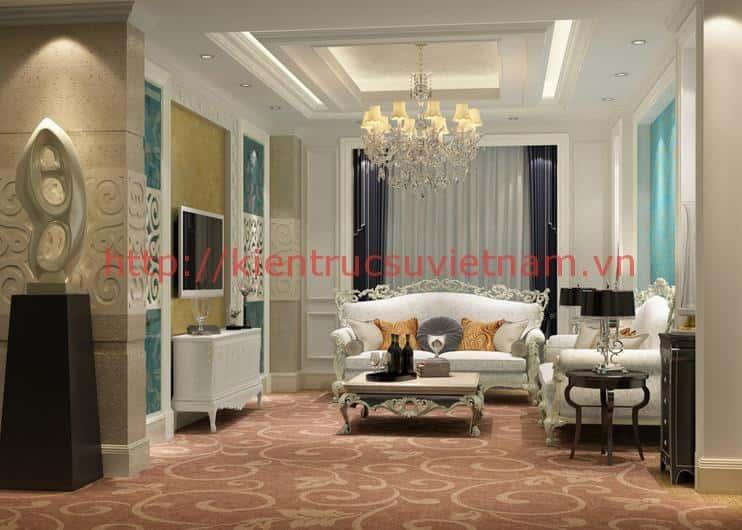 thiet ke phong cach co dien1 - Thiết kế thi công nội thất căn hộ chung cư đẹp