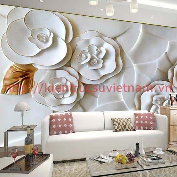tranh tuong 3d phong khach ms005 - Vẽ tranh tường phòng khách đẹp