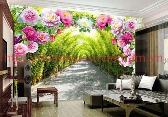 tranh tuong phong canh lang man ms003 - Tranh tường phong cảnh lãng mạn