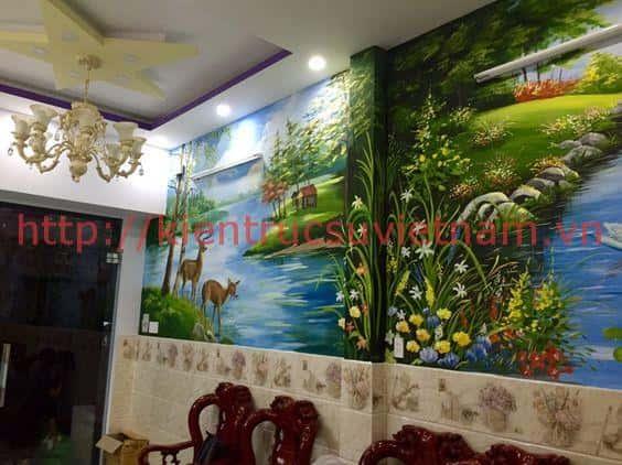 tranh tuong phong canh lang man ms004 - Tranh tường phong cảnh lãng mạn