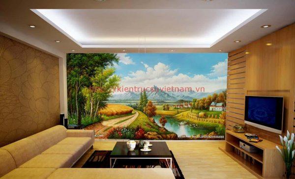 tranh tuong phong khach 001 e1595228229510 - Vẽ tranh tường phòng khách đẹp