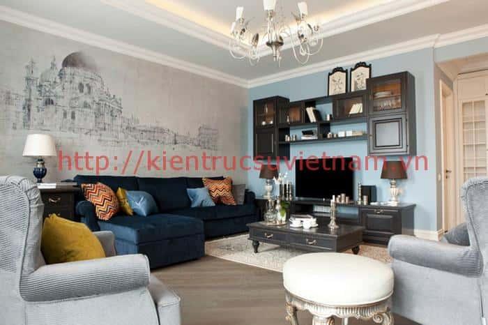 tranh tuong phong khach 005 - Vẽ tranh tường phòng khách đẹp