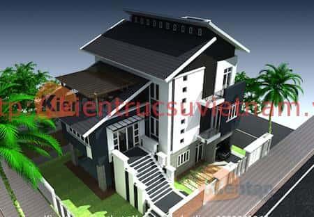 tu van thiet ke nha 2 tang mai lech 3 - 57 Mẫu thiết kế nhà mái thái đẹp nếu làm nhà các bạn nên tham khảo, mát phù hợp khí hậu nhiệt đới