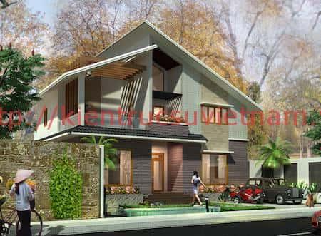 tu van thiet ke nha 2 tang mai lech 5 - 57 Mẫu thiết kế nhà mái thái đẹp nếu làm nhà các bạn nên tham khảo, mát phù hợp khí hậu nhiệt đới