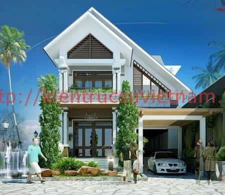 tu van thiet ke nha 2 tang nong thon 1 - 57 Mẫu thiết kế nhà mái thái đẹp nếu làm nhà các bạn nên tham khảo, mát phù hợp khí hậu nhiệt đới