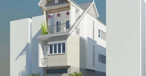 Thiết kế nhà 4 tầng 3,4 x 17,5 m