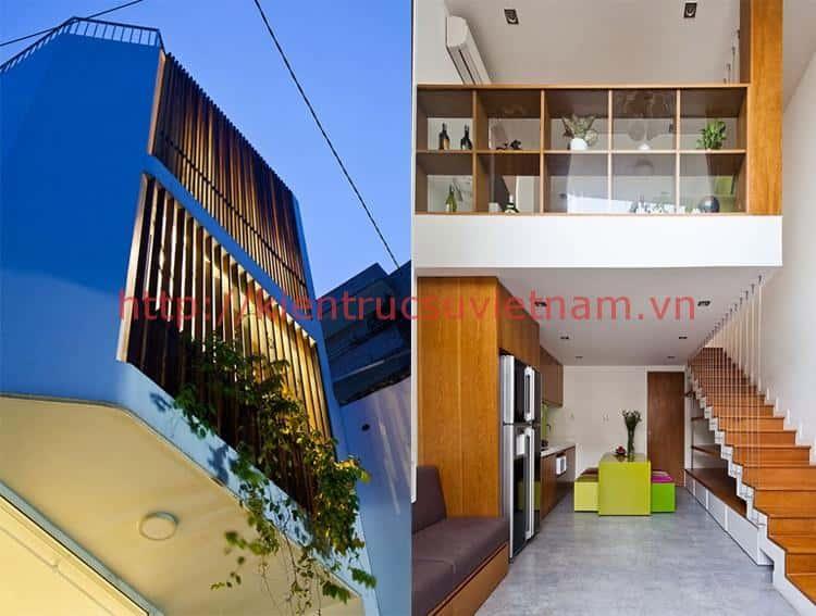 tu van thiet ke nha 3 tang 4x8m - Thiết kế nhà 3 tầng anh Đoàn Ngọc Quang - Đà Nẵng