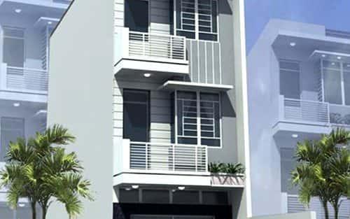 Thiết kế nhà 3 tầng với diện tích 4 x 17 m