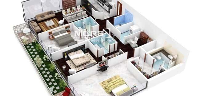 Tư vấn thiết kế nội thất căn hộ 3 phòng ngủ