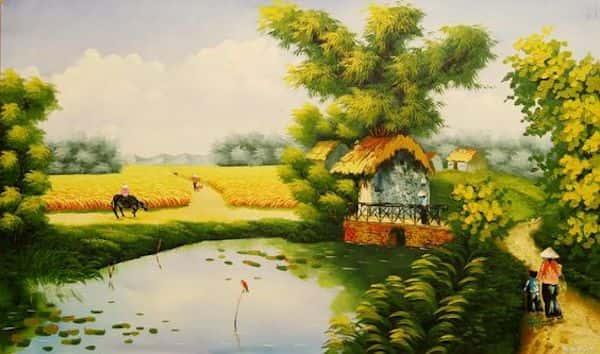 ve tranh tuong 010 - Vẽ tranh tường phòng khách đẹp