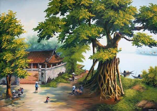 ve tranh tuong 011 - Vẽ tranh tường phòng khách đẹp