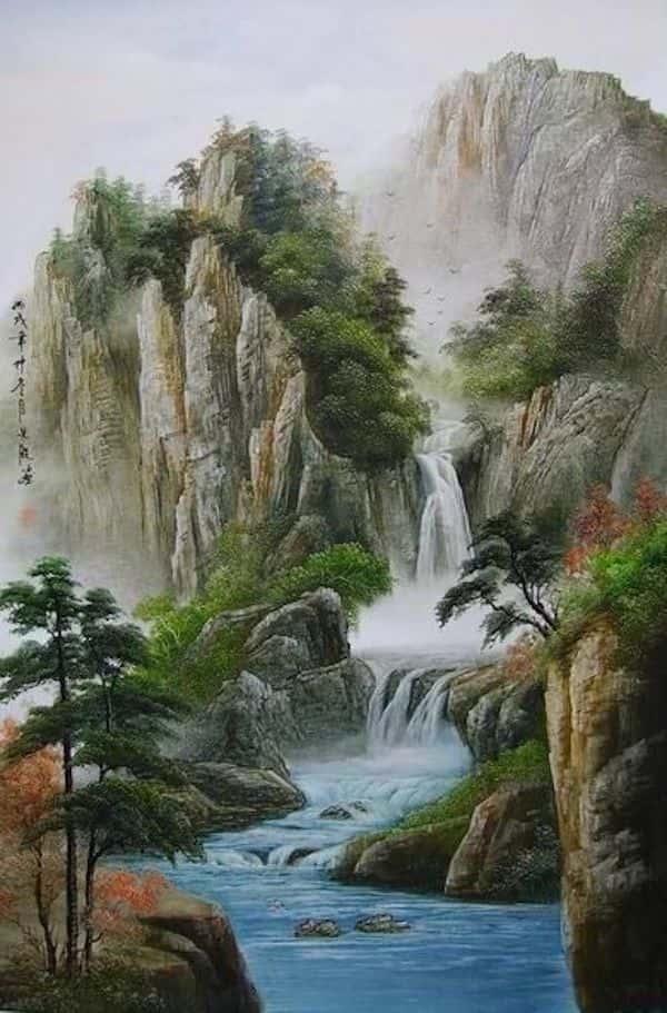 ve tranh tuong 018 - Vẽ tranh tường phòng khách đẹp