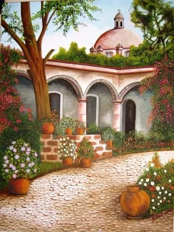 ve tranh tuong 0201 - Vẽ tranh tường phòng khách đẹp