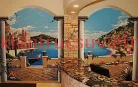 ve tranh tuong khach san003 - Vẽ tranh tường cho nhà hàng, khách sạn