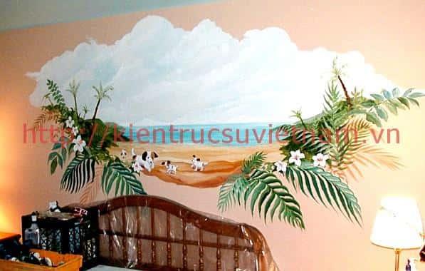 ve tranh tuong khach san004 - Vẽ tranh tường quán Cafe