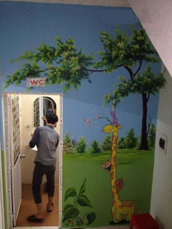 ve tranh tuong mam non 10fd - Dịch vụ Vẽ tranh tường trường mầm Non