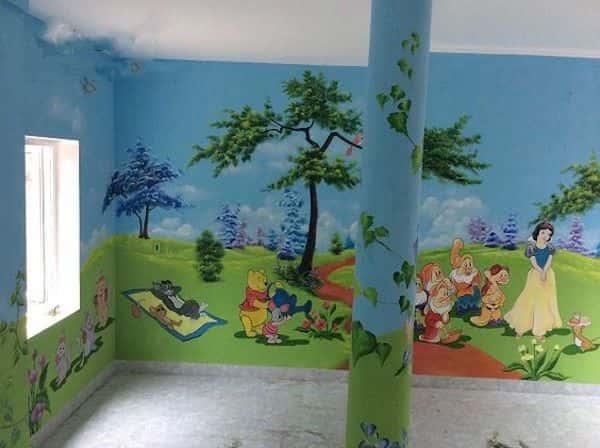ve tranh tuong mam non 10tr - Dịch vụ Vẽ tranh tường Mầm Non