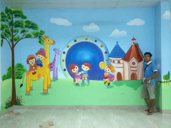 ve tranh tuong mam non - Dịch vụ Vẽ tranh tường Mầm Non
