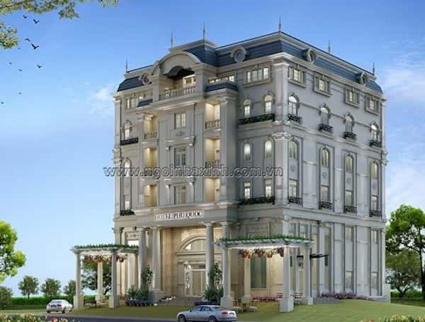 khach san co dien 1 - Thiết kế khách sạn cổ điển sang trọng