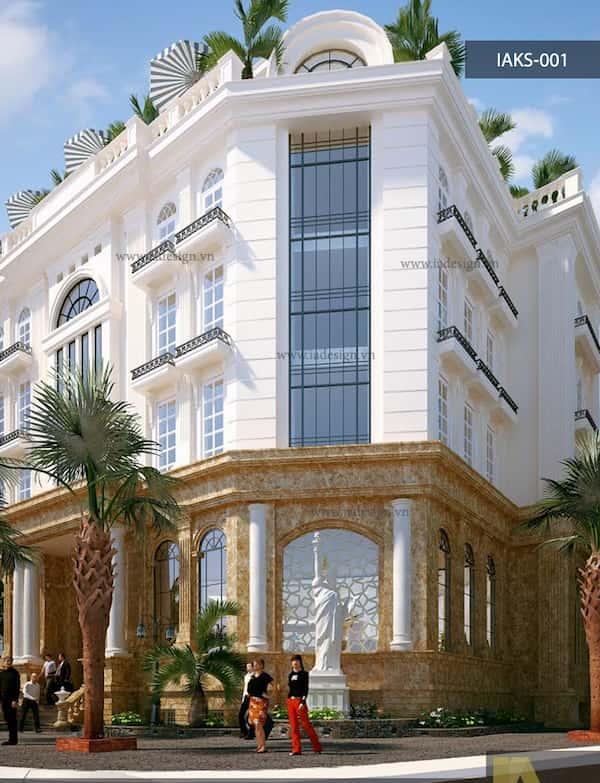 khach san co dien 12 - Thiết kế khách sạn cổ điển sang trọng