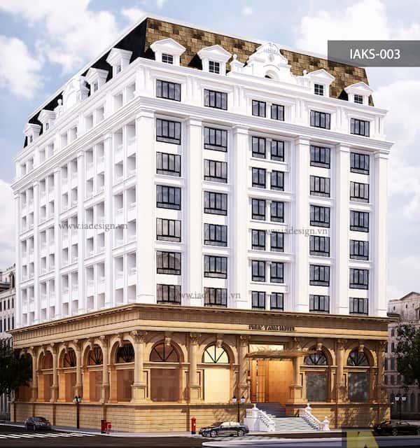 khach san co dien 13 - Thiết kế khách sạn cổ điển sang trọng