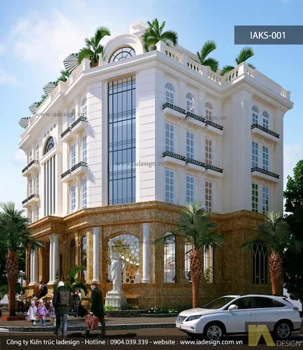 khach san co dien 15 - Thiết kế khách sạn cổ điển sang trọng