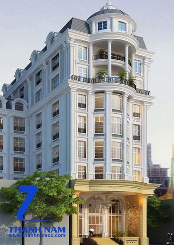 khach san co dien 16 - Thiết kế khách sạn cổ điển sang trọng