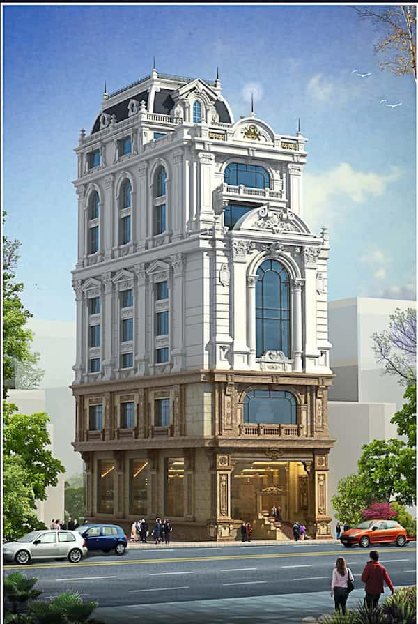 khach san co dien 17 - Thiết kế khách sạn Vinh